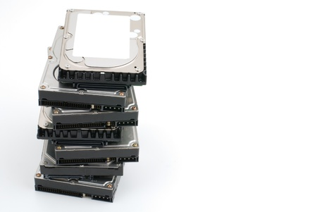stowing: Hard disk that is stacked