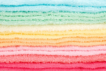 laden: Towel laden colorful Stock Photo