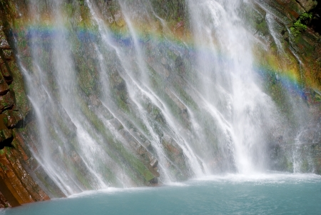 riverine: Maruo waterfall took the rainbow