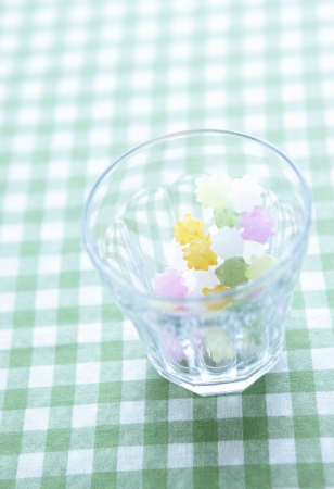 comfit: Candy in the glass Stock Photo