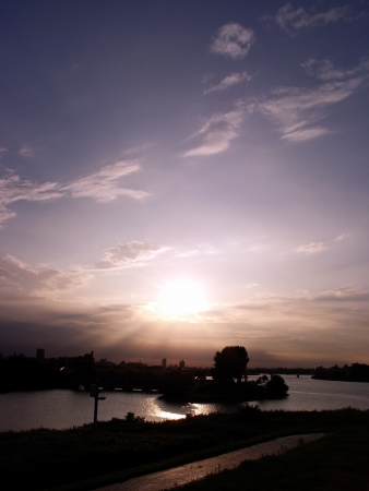 riverine: Iwabuchi Watergate Near Stock Photo