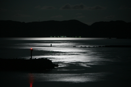 Sea at night photo