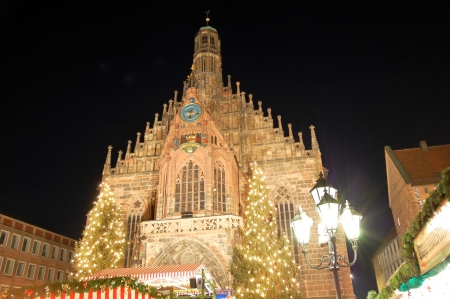 Germany Nuremberg Christmas illuminations photo