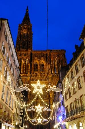 France Strasbourg Christmas illuminations photo