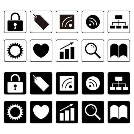 Icon set of key tag · RSS · Heart & Sun this graph, etc. photo