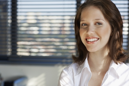 female office worker: Portrait of young female office worker
