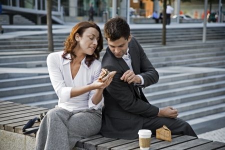 welldressed: Well-Dressed Couple Having Lunch