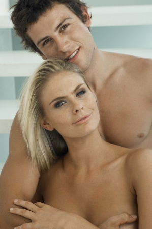 Portrait of Young Naked Couple photo