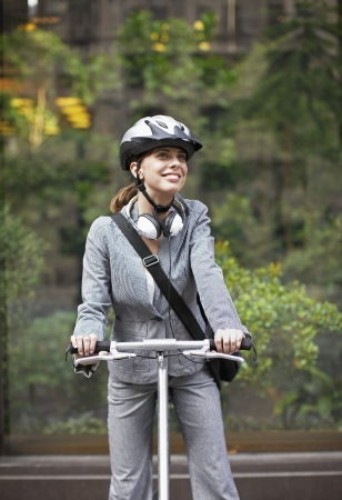 Businesswoman Cycling photo