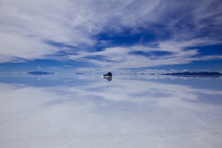 Uyuni salt lake of Lake Mirror photo