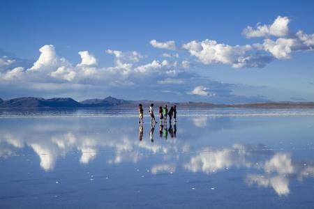 Uyuni salt lake of Lake Mirror