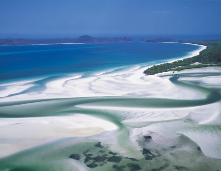 Aerial View Whitehaven Beach sky photo