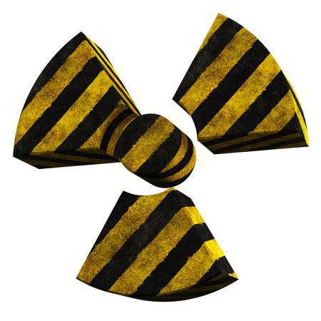 radioactivity logo made of stripe painted concrete Stock Photo - 23038786