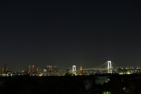 Distant view of the Rainbow Bridge (Night) photo