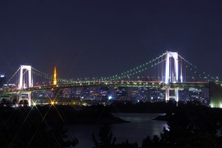 Tokyo Tower and Rainbow Bridge photo