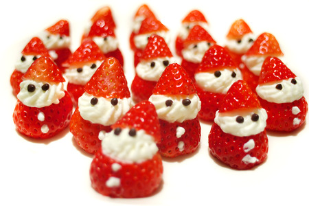 Santa Claus of strawberry photo