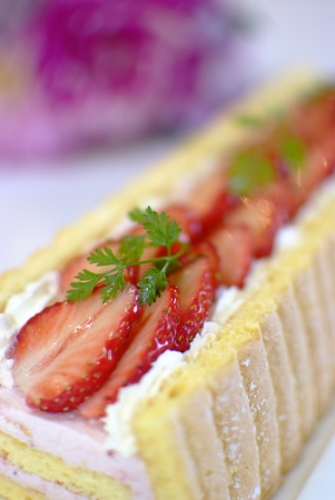 Strawberry roll photo