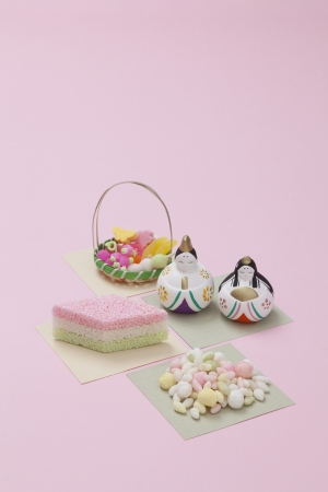 Hishimochi and Japanese traditional sweets photo