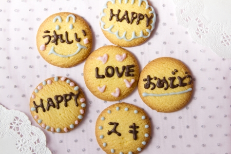 Lettered cookies photo