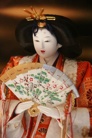 Close-up of hina doll photo