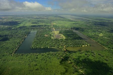 Angkor Wat ruins panorama photo