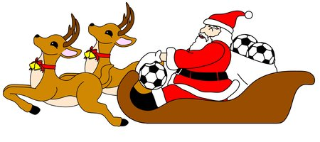 Santa Claus to present a soccer ball photo