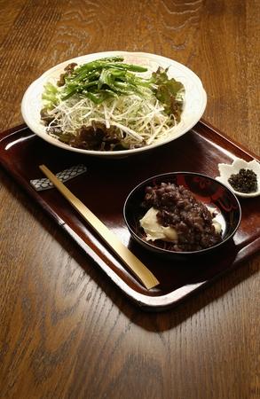 soba: Soba Zenzai and Soba salad