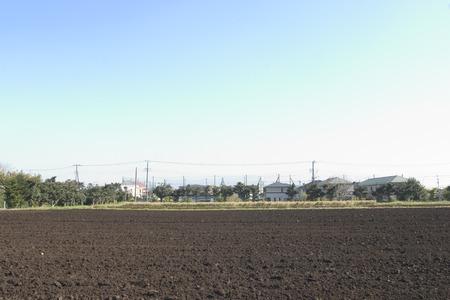 tokyo prefecture: Plowed field,Tokyo Prefecture,Honshu Japan Stock Photo