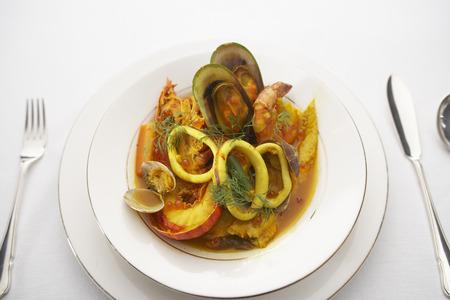 Seafood bouillabaisse photo