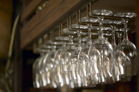 tokyo prefecture: Rack of Wineglasses. Tokyo Prefecture,Japan