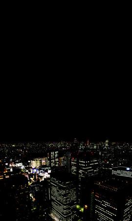Cityscape at night,Tokyo Prefecture,Honshu,Japan