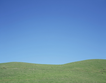 ���clear sky���: Hill and clear sky Stock Photo