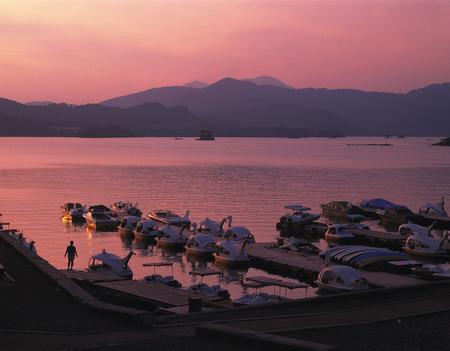 fukushima: Lake Hibara at sunset,Kitashiobara,Yama,Fukushima Prefecture,Japan