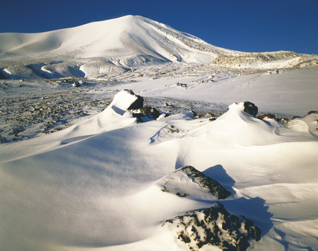 Mount Asama Covered in Snow,Gunma Prefecture,Japan. photo