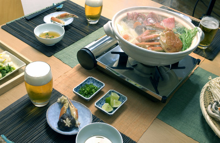crab pot: Hot pot dish with crab and red sea bream