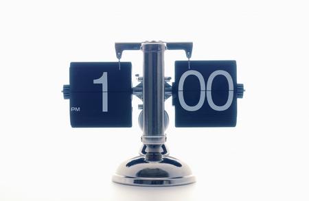 Clock Showing 10 O'clock Clock Showing 1 O'clock,white