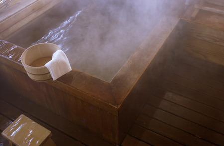 honshu: Hot spring,Nagano Prefecture,Honshu,Japan Stock Photo