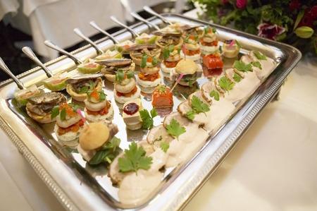 Dish of Italian hors doeuvres photo