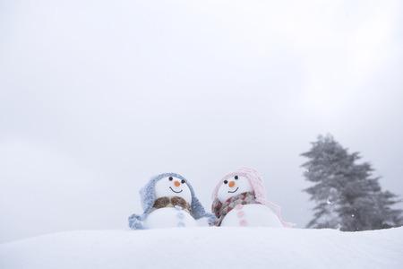 female likeness: Snowman couple