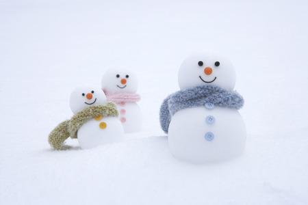 female likeness: Family of snowmen