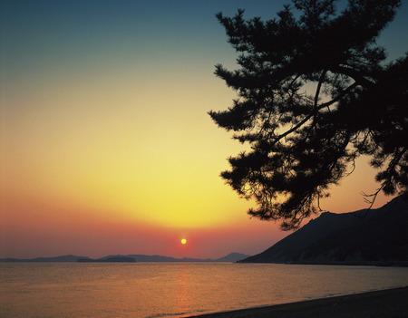 okayama: Beach at sunset,Okayama Prefecture,Japan