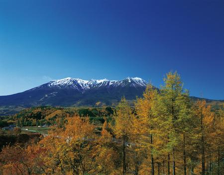 honshu: Mt. Ontake in Autumn,Nagano Prefecture,Honshu,Japan Stock Photo