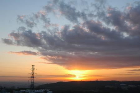 tokyo prefecture: Sky at sunrise,Tokyo prefecture,Japan Stock Photo