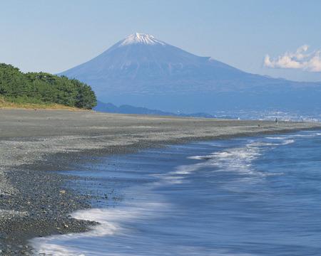 honshu: Mt Fuji from Miho Coastline,Shizuoka Prefecture,Honshu,Japan