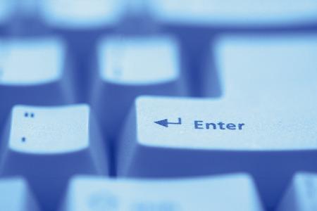 enter key: Enter key,close up,toned image Stock Photo