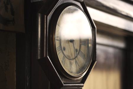 grandfather clock: Close-up of Grandfather clock