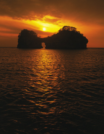 honshu: Engetsu Island at dusk,Wakayama Prefecture,Honshu,Japan