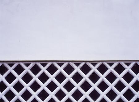 latticed: Latticed wall Stock Photo