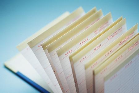 western script: Card file