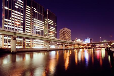 kita: Nakanoshima at night,Kita Ward,Osaka,Japan